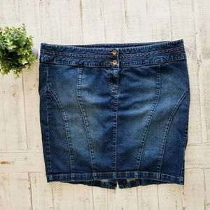 Torrid Plus Size Denim Pencil Skirt